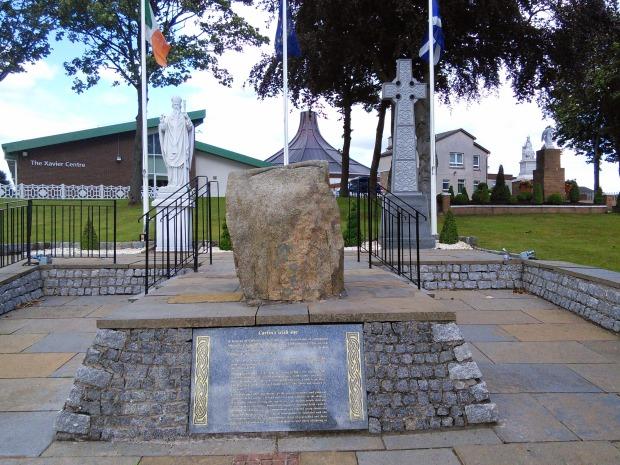 Memorial to Irish immigrants.