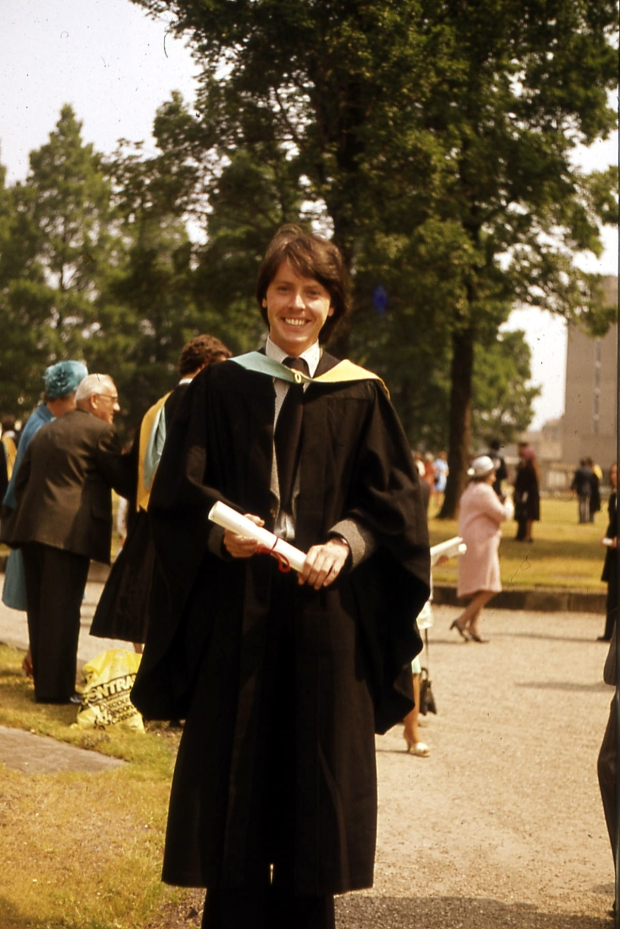 Jim on his graduation day