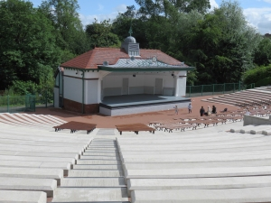 The Upgraded bandstand.